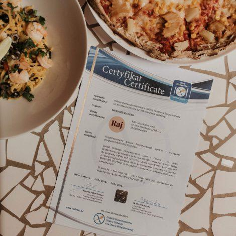 certyfikat kuchnia bezglutenowa